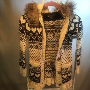 Girls Gorgeous Gap Fur Hood Sweater